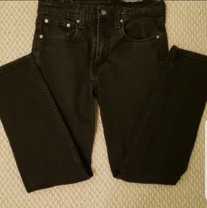 Men's Black Levi's 502 Jeans - 32x32
